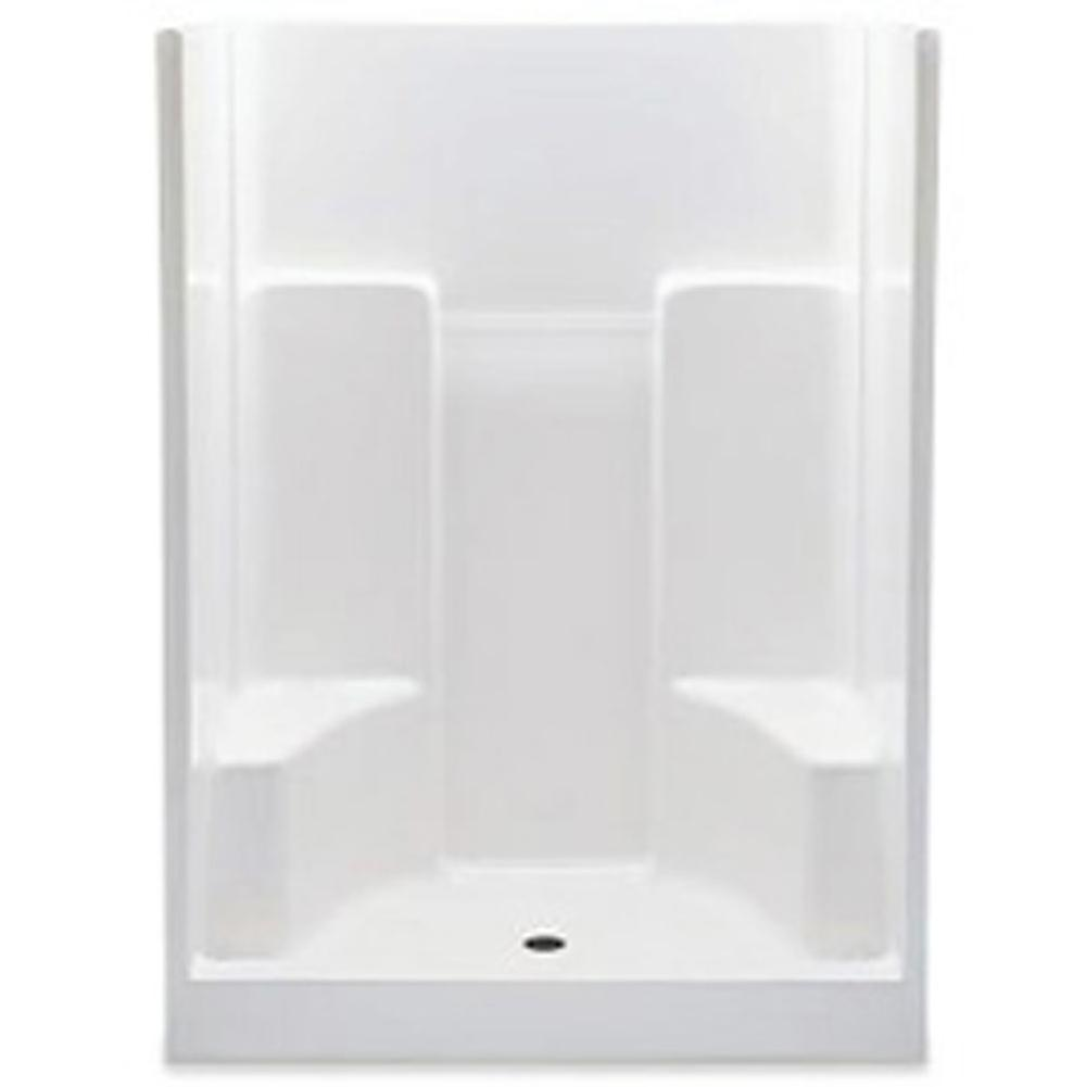 Aquatic Alcove Shower Enclosures item 1603SGM-WH