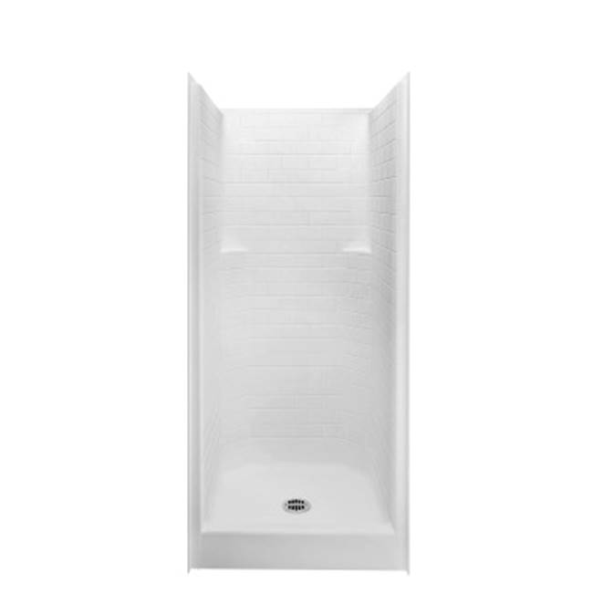Aquatic Bypass Shower Enclosures item 13636STT-WH