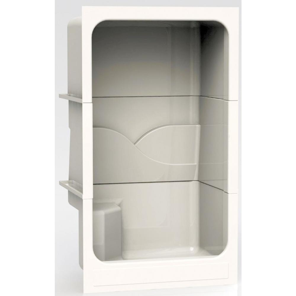 Aquatic Bypass Shower Enclosures item 48ACTRIBR-WH
