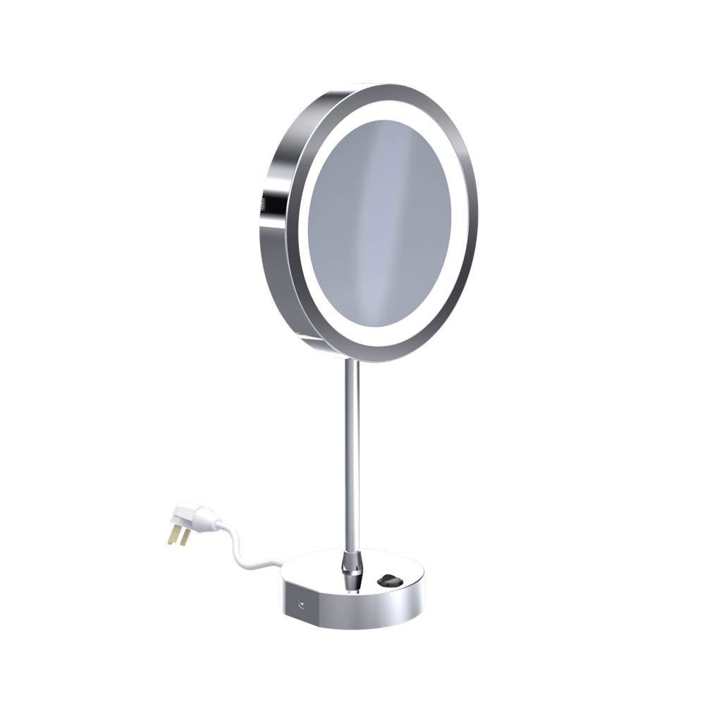 Baci Remcraft Magnifying Mirrors Bathroom Accessories item EH130-LED CHR