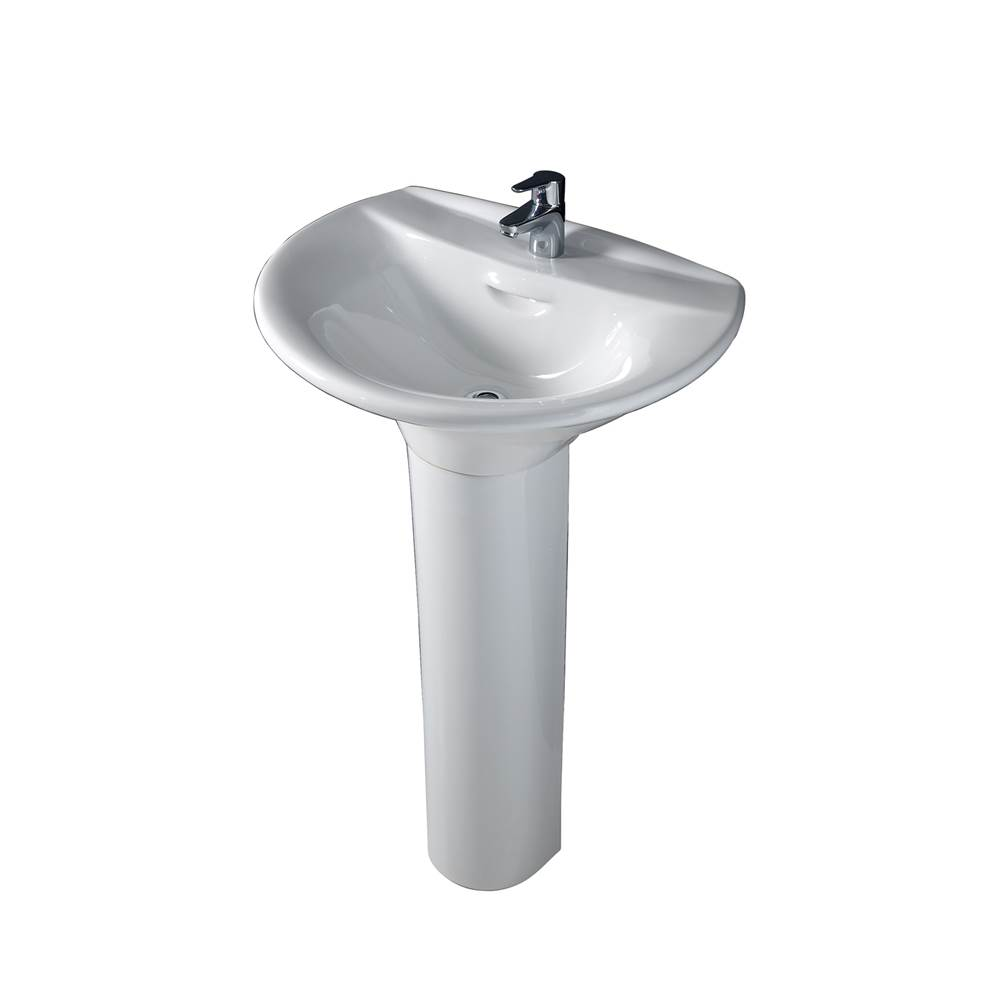 Barclay Complete Pedestal Bathroom Sinks item C/3-130WH