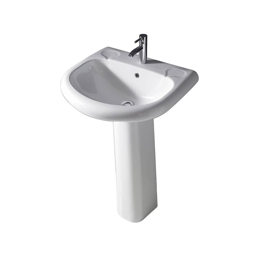 Barclay Complete Pedestal Bathroom Sinks item 3-181WH