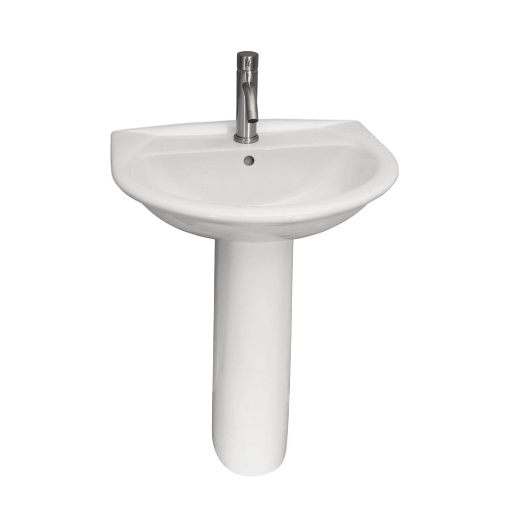 Barclay Complete Pedestal Bathroom Sinks item 3-291WH