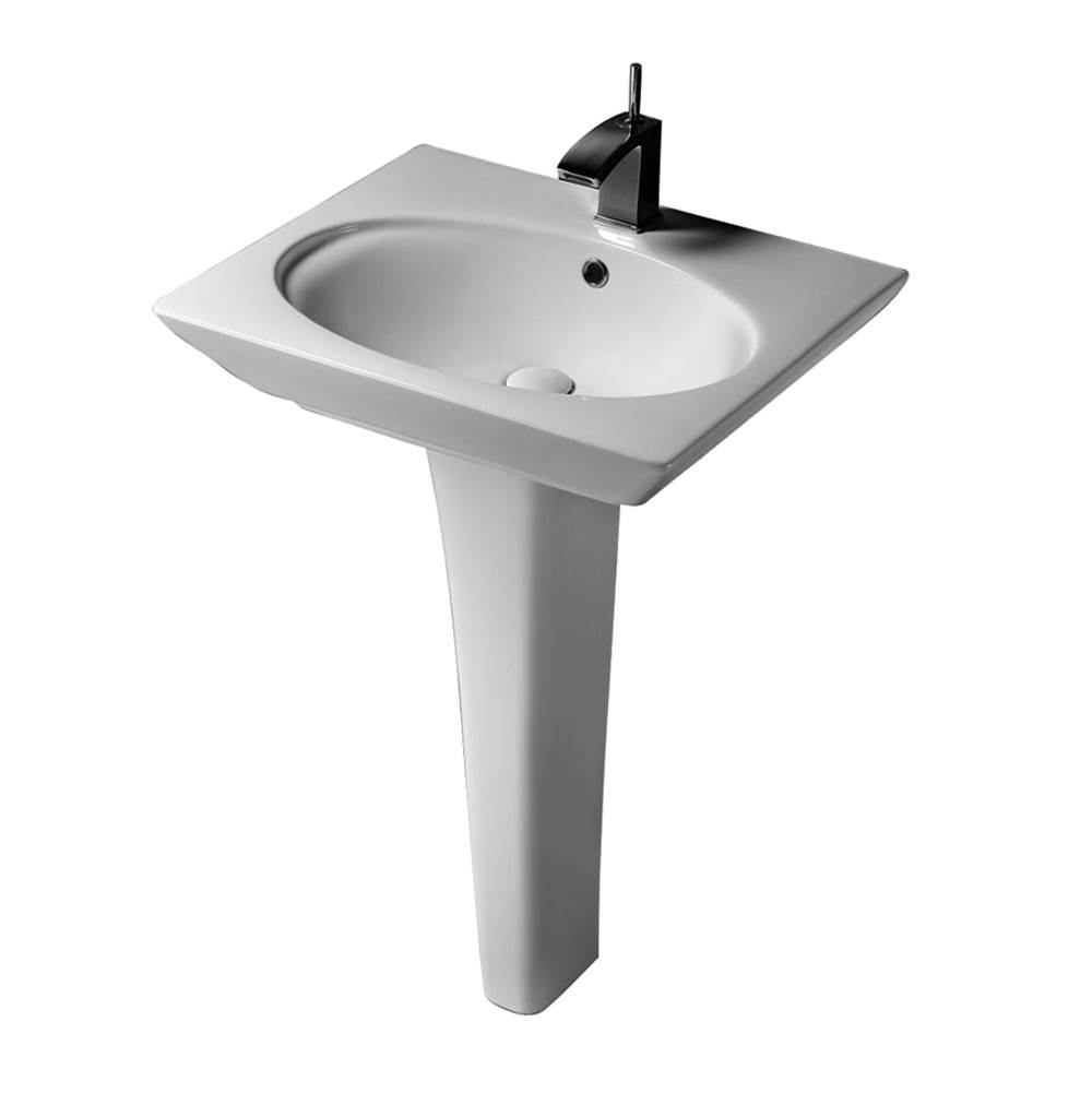 Barclay Complete Pedestal Bathroom Sinks item 3-378WH