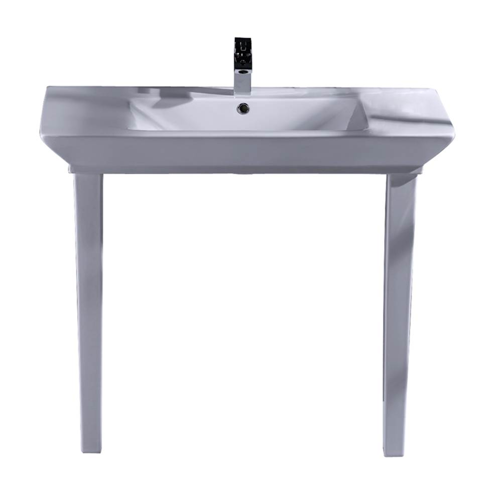 Barclay Lavatory Console Bathroom Sinks item 963WH