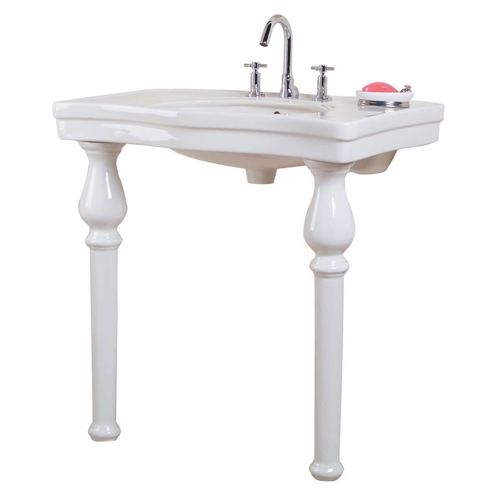 Barclay Lavatory Console Bathroom Sinks item 971-WH