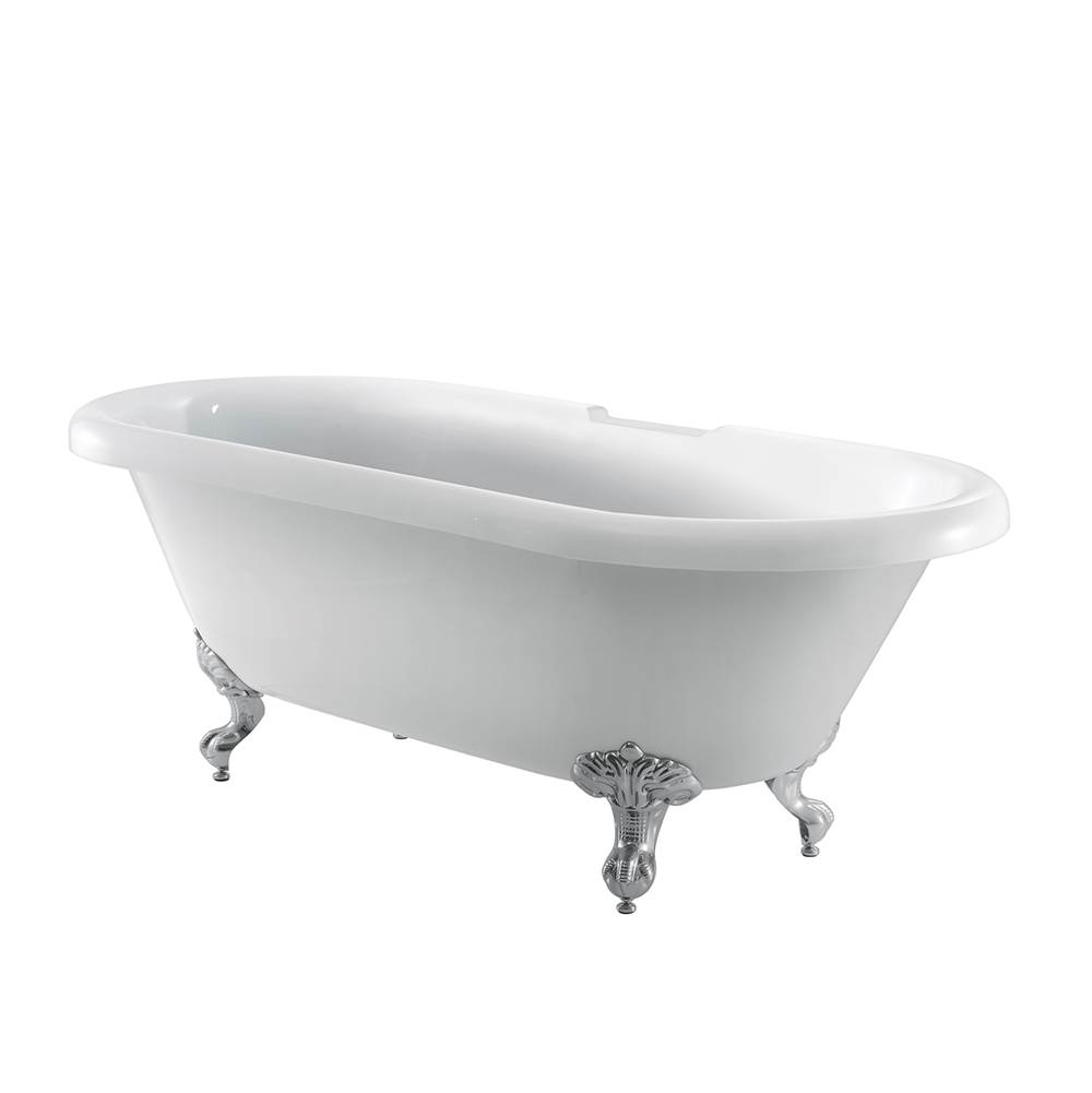 Barclay Clawfoot Soaking Tubs item ATDR7H69I-WH-PB