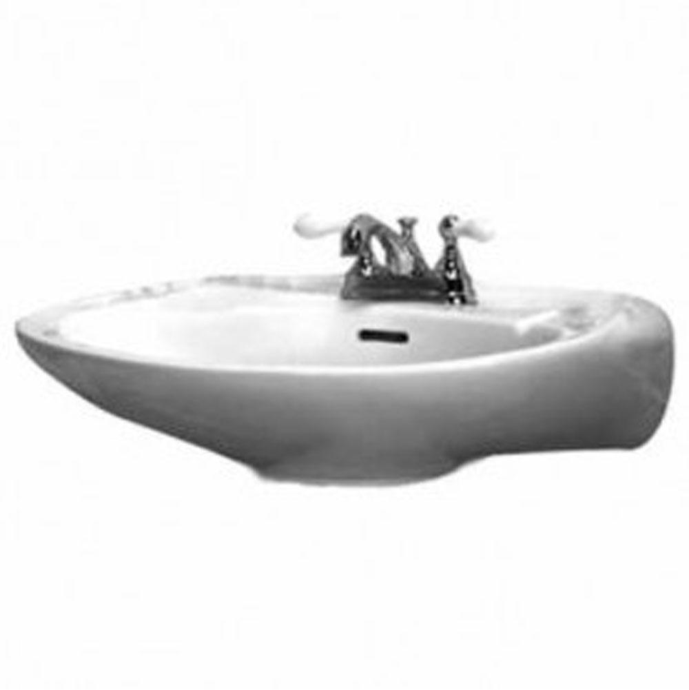 Barclay Vessel Only Pedestal Bathroom Sinks item B/3-234WH