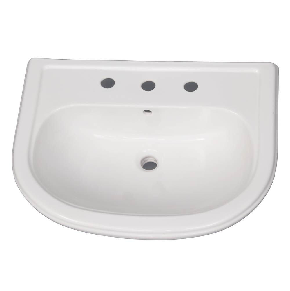 Barclay Vessel Only Pedestal Bathroom Sinks item B/3-1058WH