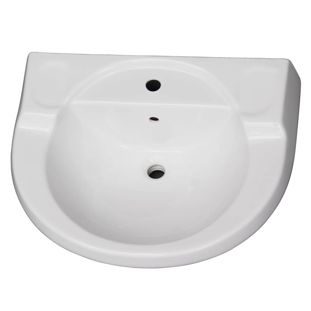Barclay Vessel Only Pedestal Bathroom Sinks item B/3-191WH
