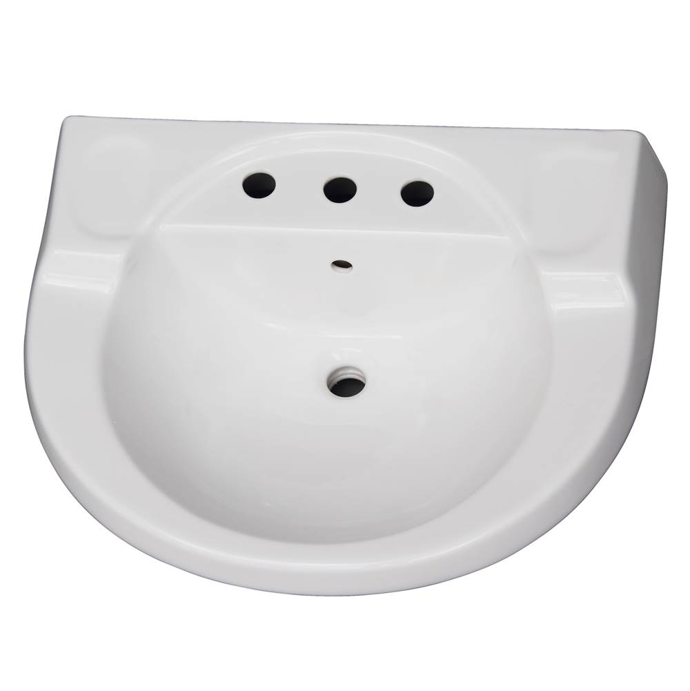 Barclay Vessel Only Pedestal Bathroom Sinks item B/3-198WH