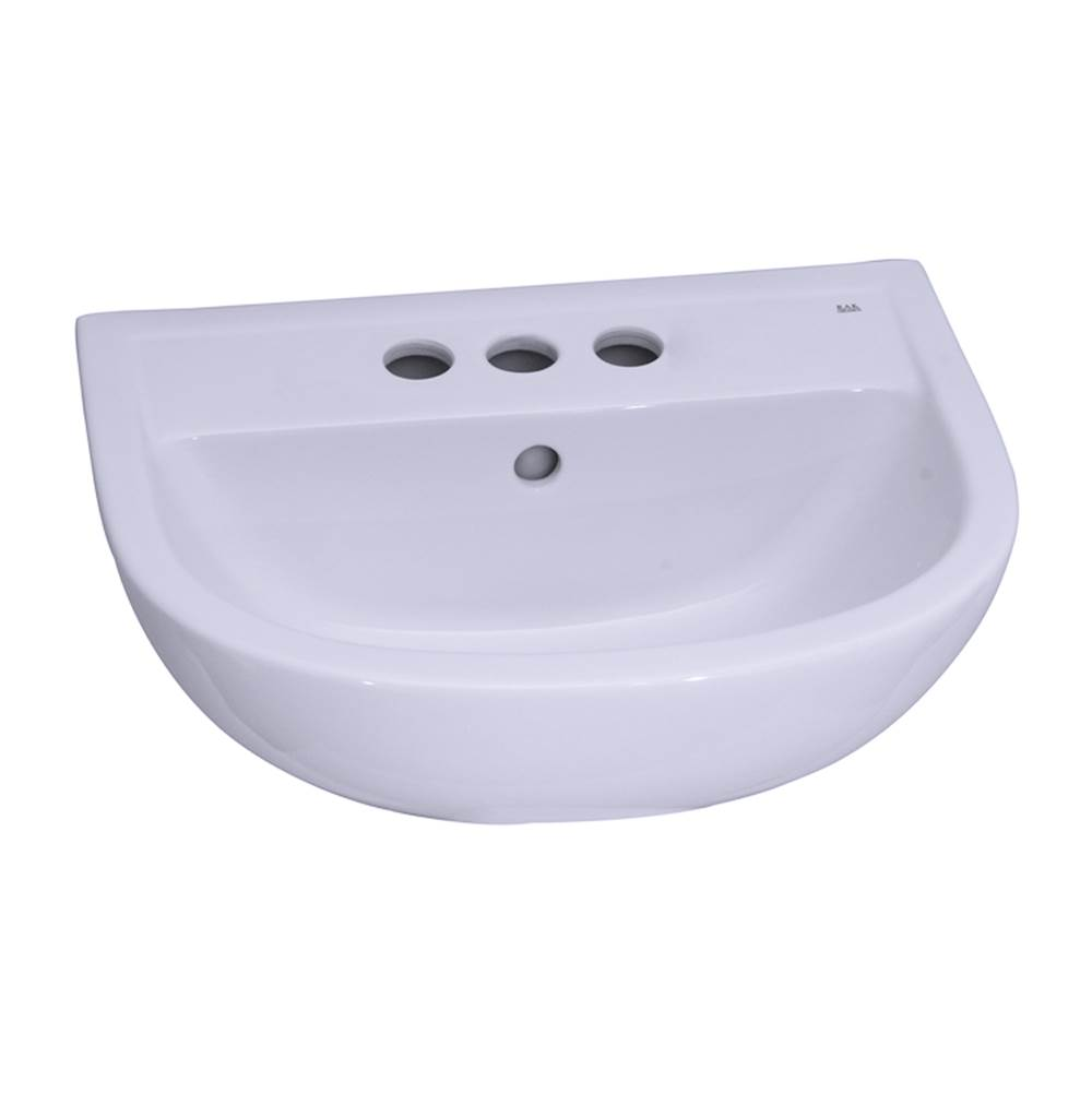 Barclay Vessel Only Pedestal Bathroom Sinks item B/3-544WH