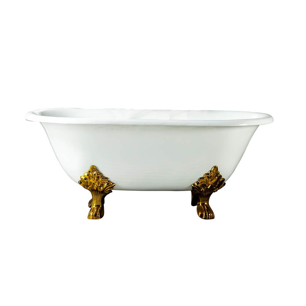 Barclay Clawfoot Soaking Tubs item CTDRN61LP-WH-PB