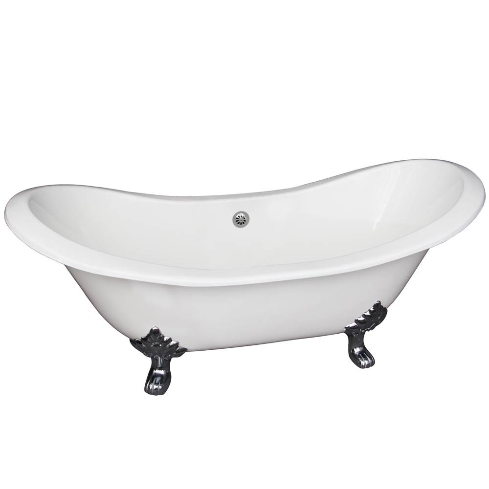 Barclay Clawfoot Soaking Tubs item CTDSN61-WH-PB