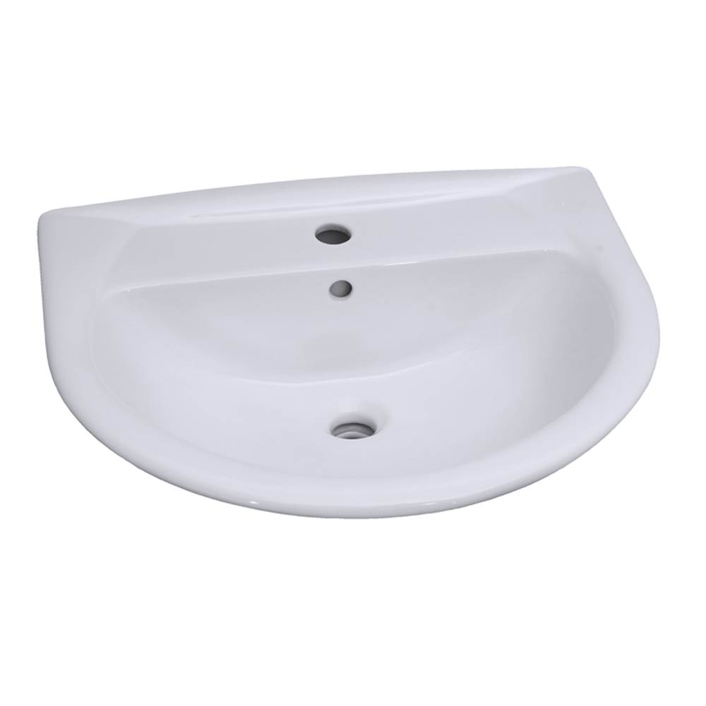 Barclay Vessel Only Pedestal Bathroom Sinks item B/3-308WH