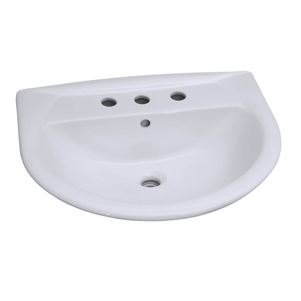 Barclay Vessel Only Pedestal Bathroom Sinks item B/3-338WH