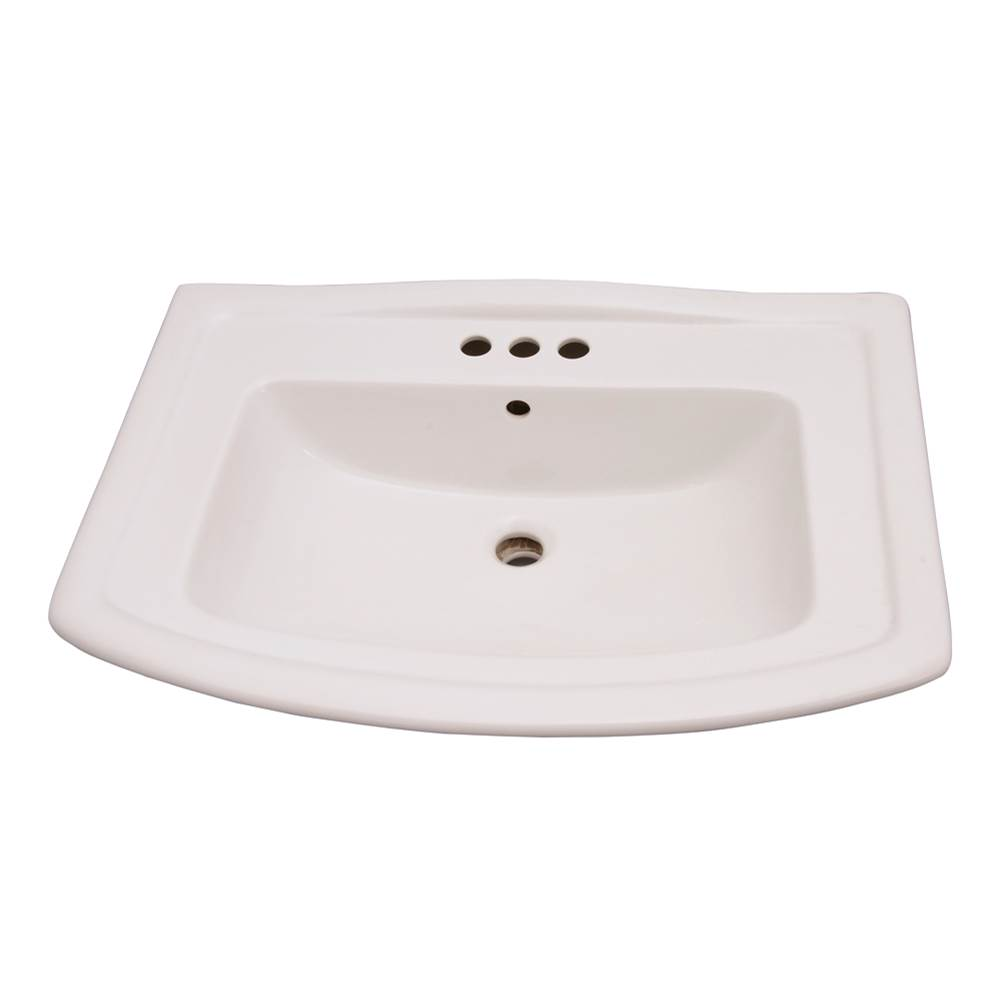 Barclay Vessel Only Pedestal Bathroom Sinks item B/3-494WH