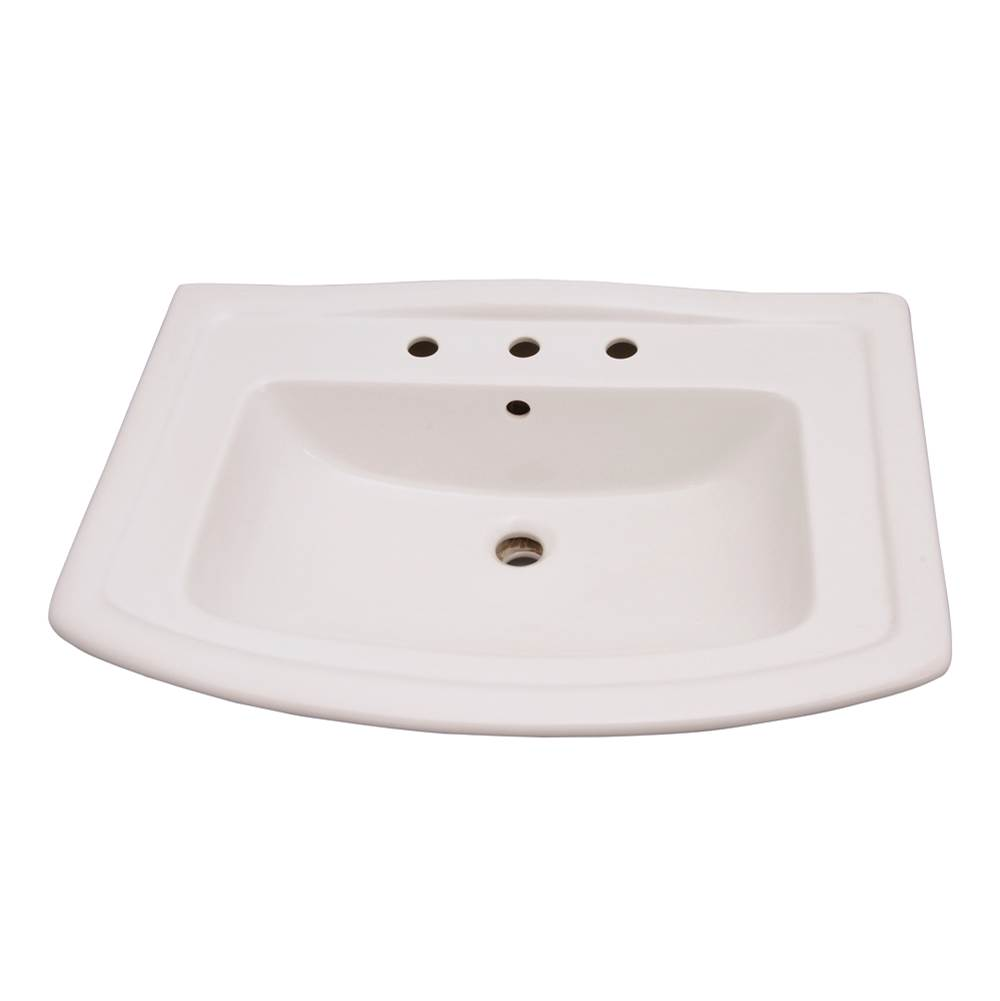 Barclay Vessel Only Pedestal Bathroom Sinks item B/3-498WH