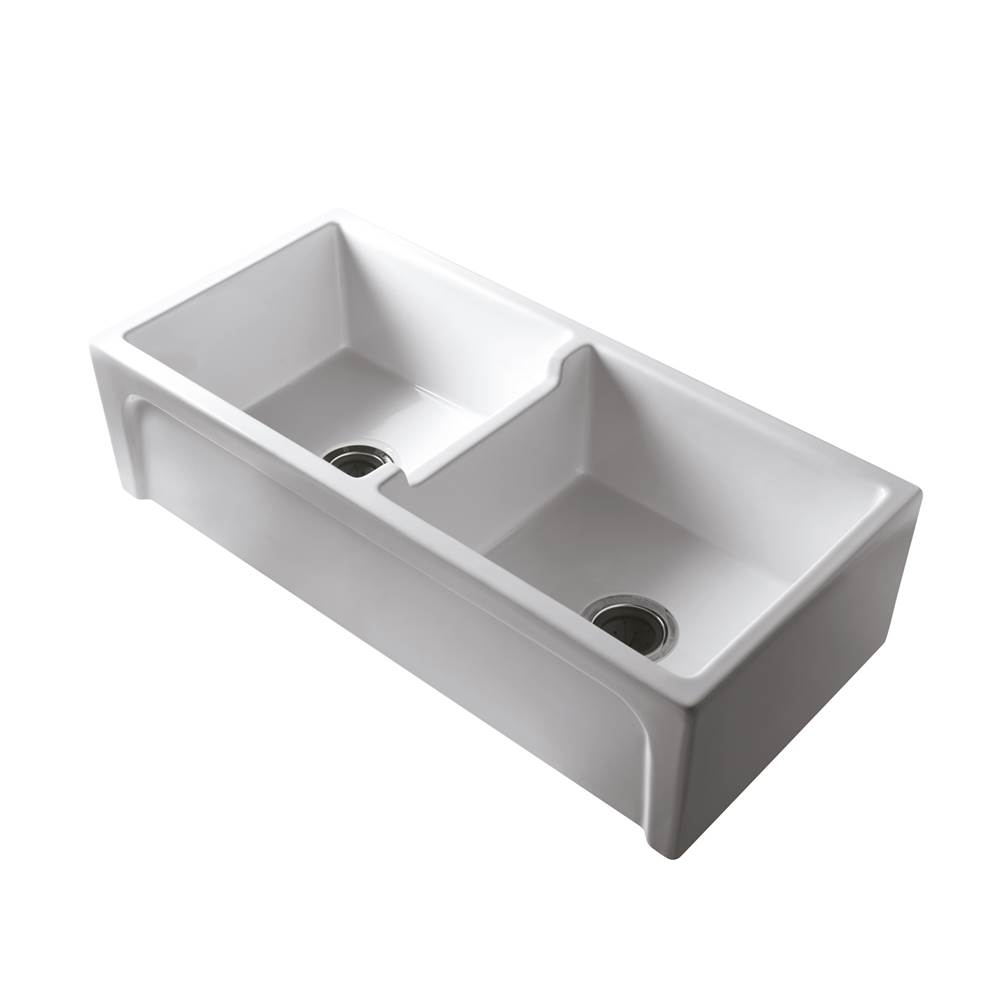 Barclay Farmhouse Kitchen Sinks item FSDB1552-WH