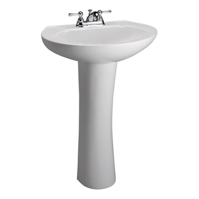 Barclay Vessel Only Pedestal Bathroom Sinks item 3-201WH