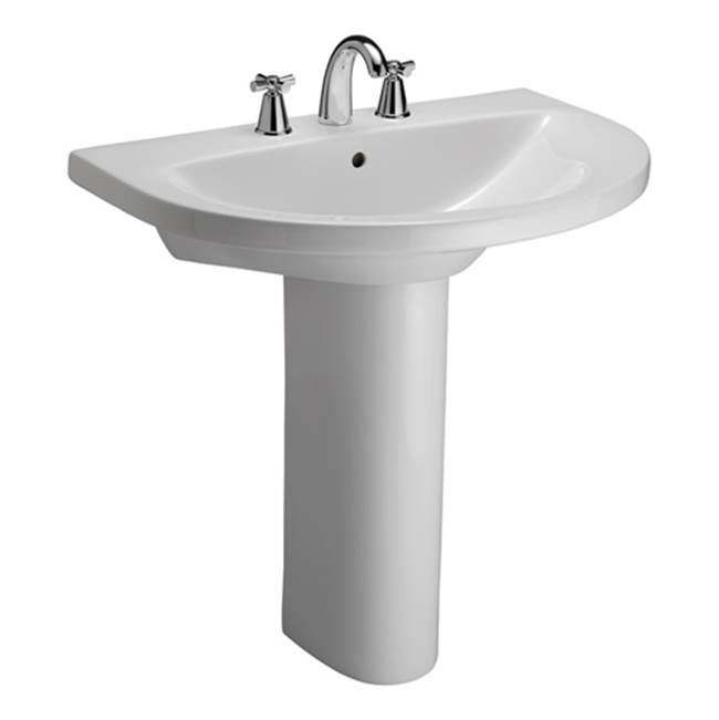 Barclay Vessel Only Pedestal Bathroom Sinks item 3-678WH