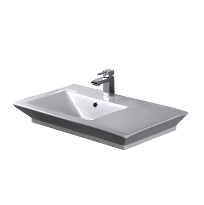Barclay Wall Mount Bathroom Sinks item 4-369WH