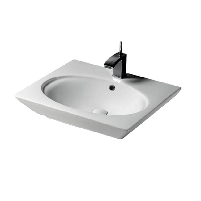 Barclay Vessel Only Pedestal Bathroom Sinks item B/3-371WH