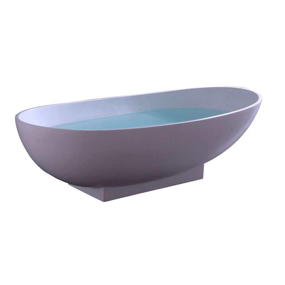 Barclay Free Standing Soaking Tubs item RTOVN70-OF-WH