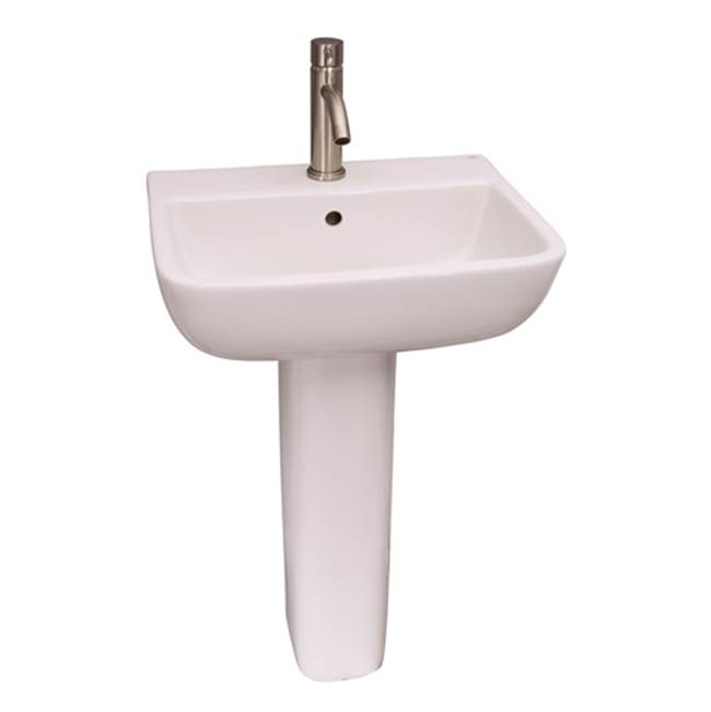 Barclay Vessel Only Pedestal Bathroom Sinks item 3-214WH