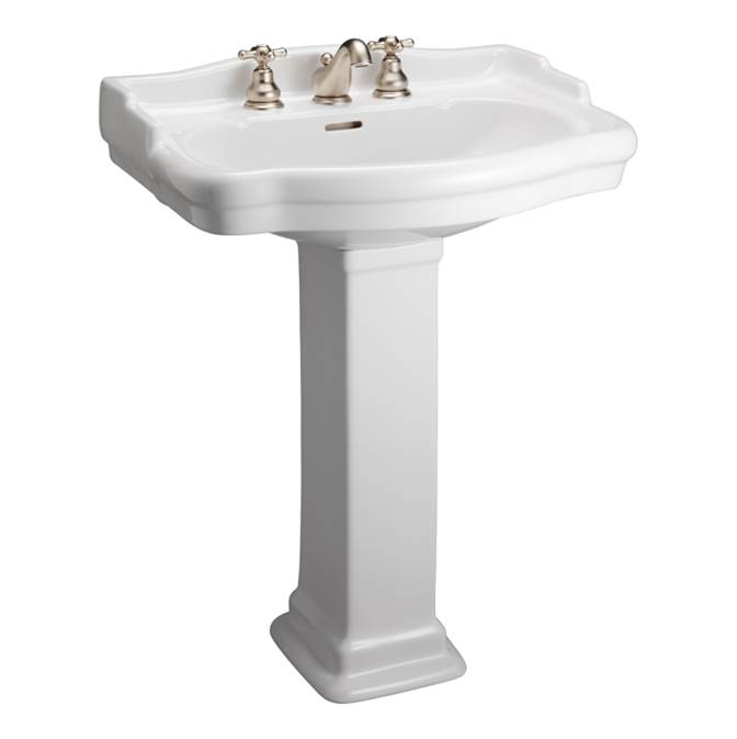 Barclay Vessel Only Pedestal Bathroom Sinks item 3-844WH