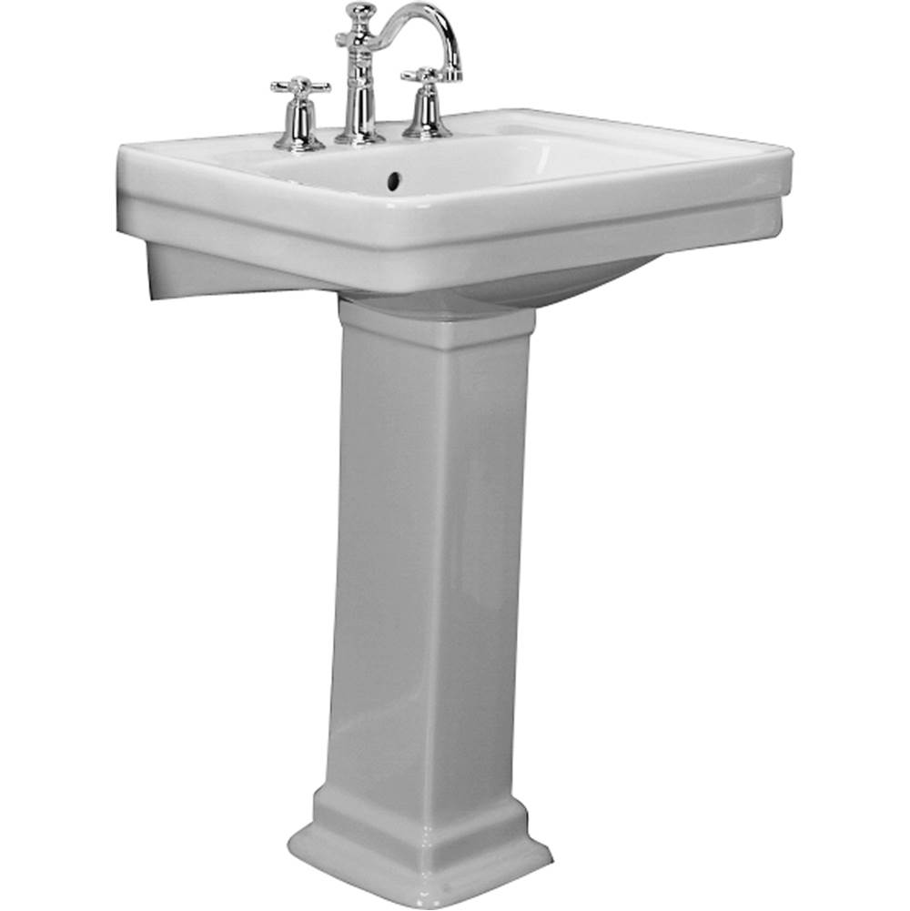 Barclay Vessel Only Pedestal Bathroom Sinks item 3-668WH