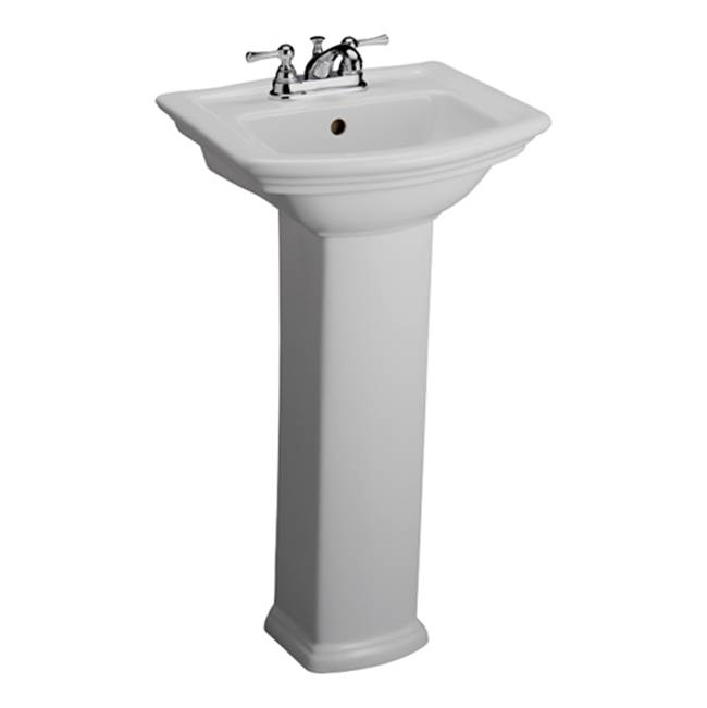 Barclay Vessel Only Pedestal Bathroom Sinks item 3-381WH