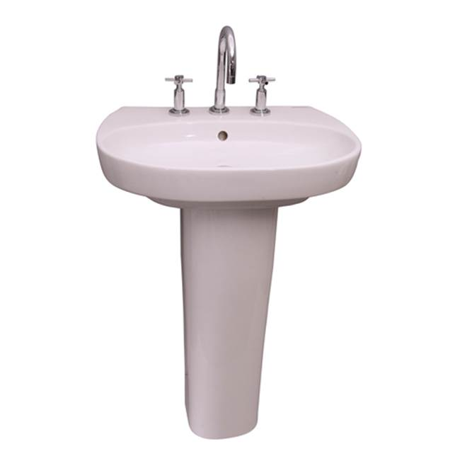 Barclay Complete Pedestal Bathroom Sinks item 3-921WH