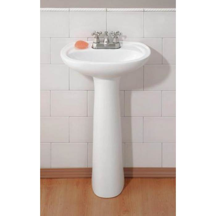 Cheviot Products Complete Pedestal Bathroom Sinks item 617-WH-4