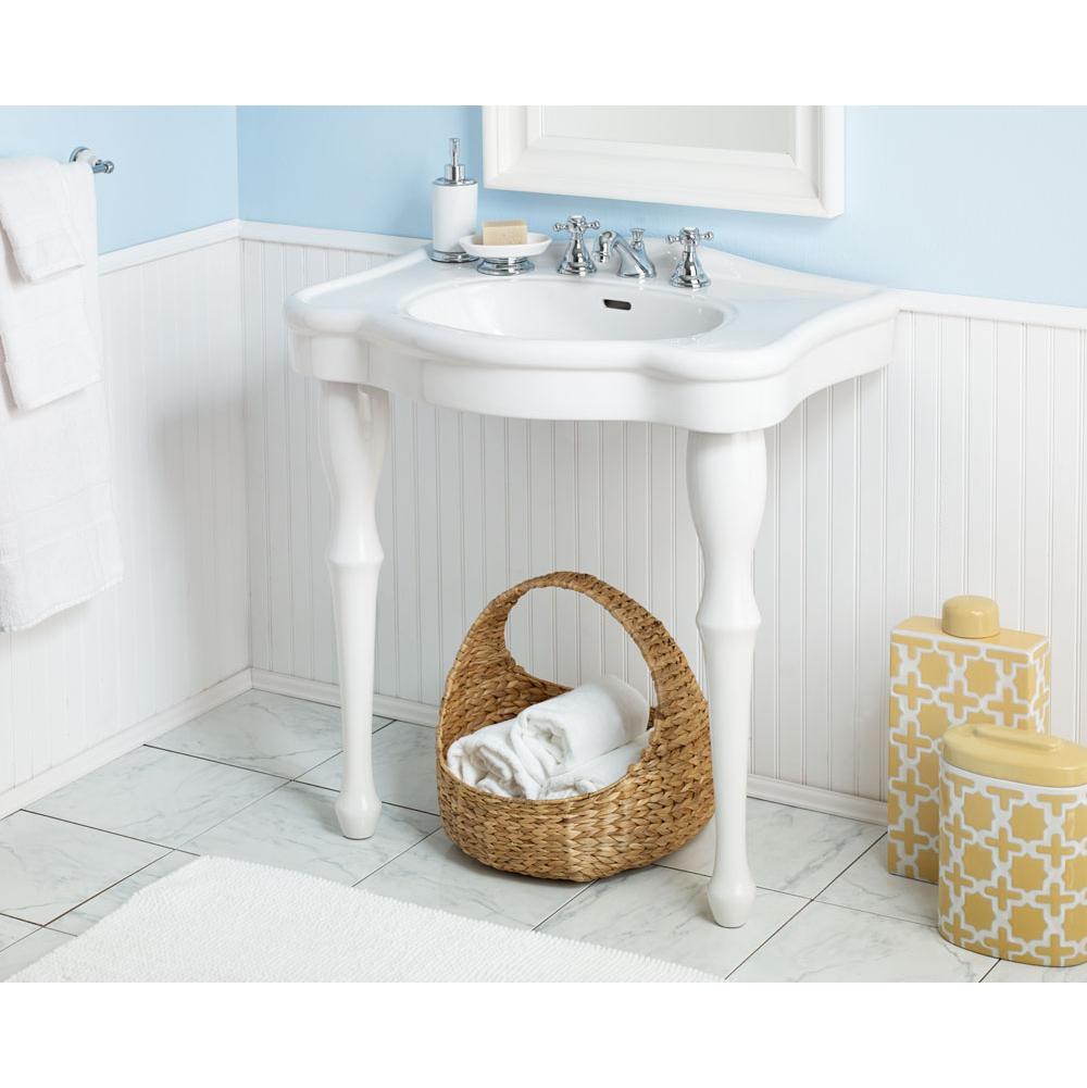 Cheviot Products Lavatory Console Bathroom Sinks item 707-WH-8