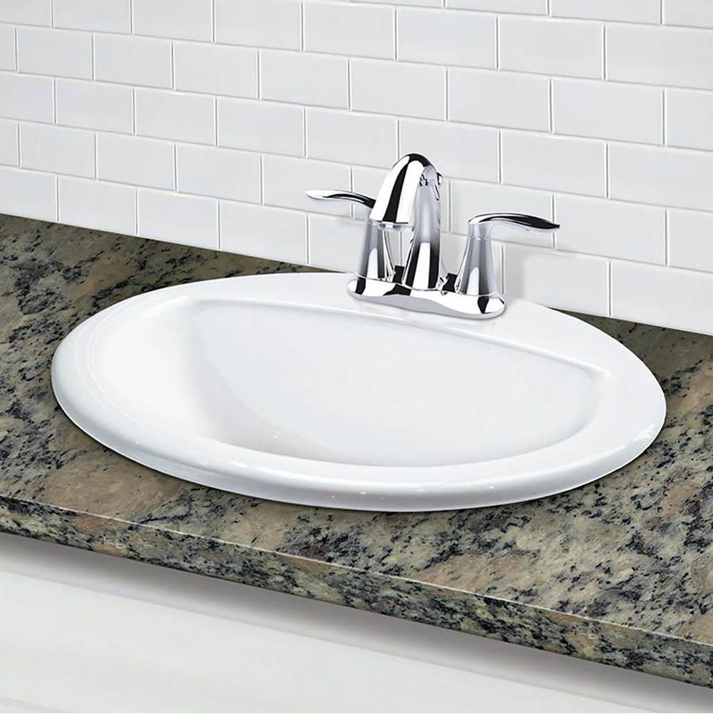 Decolav Drop In Bathroom Sinks item 1436-4-CWH