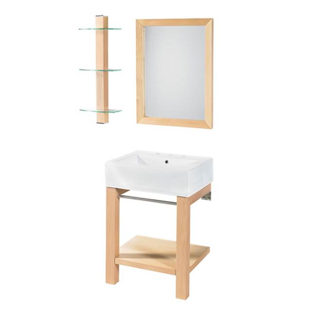 Decolav Wall Mount Vanities item 2550-8CWH-MP