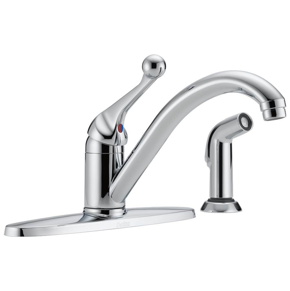 Delta Faucet Deck Mount Kitchen Faucets item 400-BH-DST