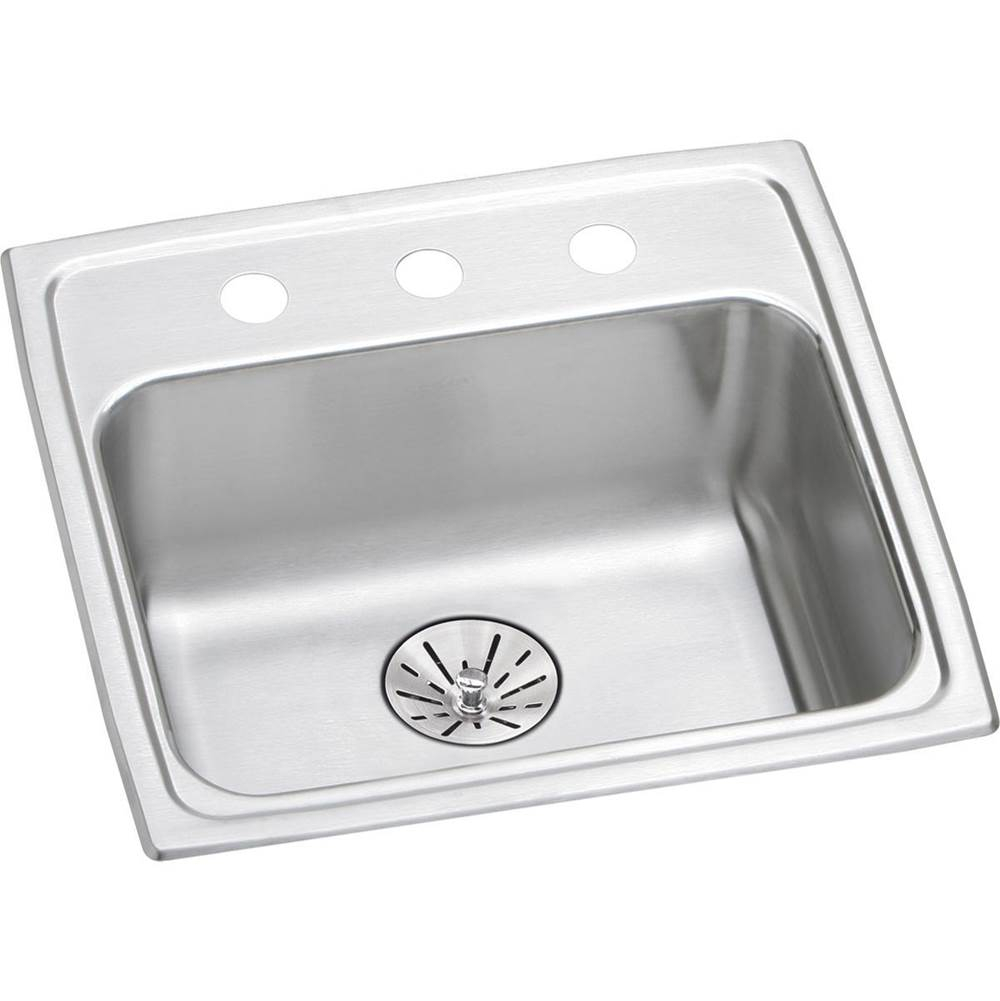Elkay Lustertone Classic LRAD3321602 Equal Double Bowl Drop-In Stainless Steel ADA Sink