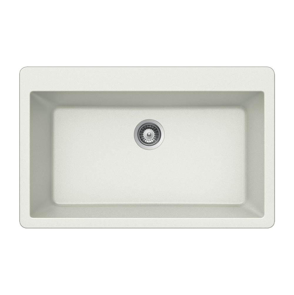 Hamat Drop In Kitchen Sinks item SIO-3321ST-WH