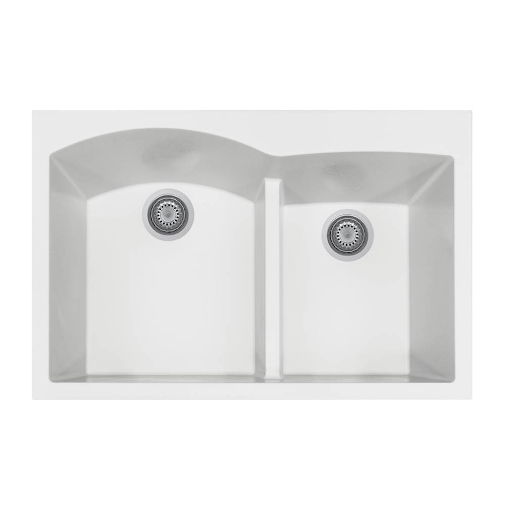 Hamat Drop In Kitchen Sinks item SIO-3322DATR-WH