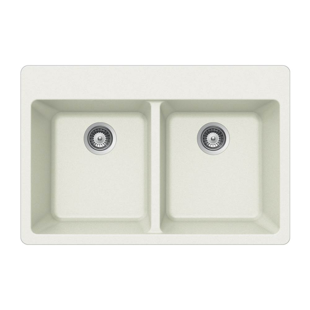 Hamat Drop In Kitchen Sinks item SIO-3322DT-WH