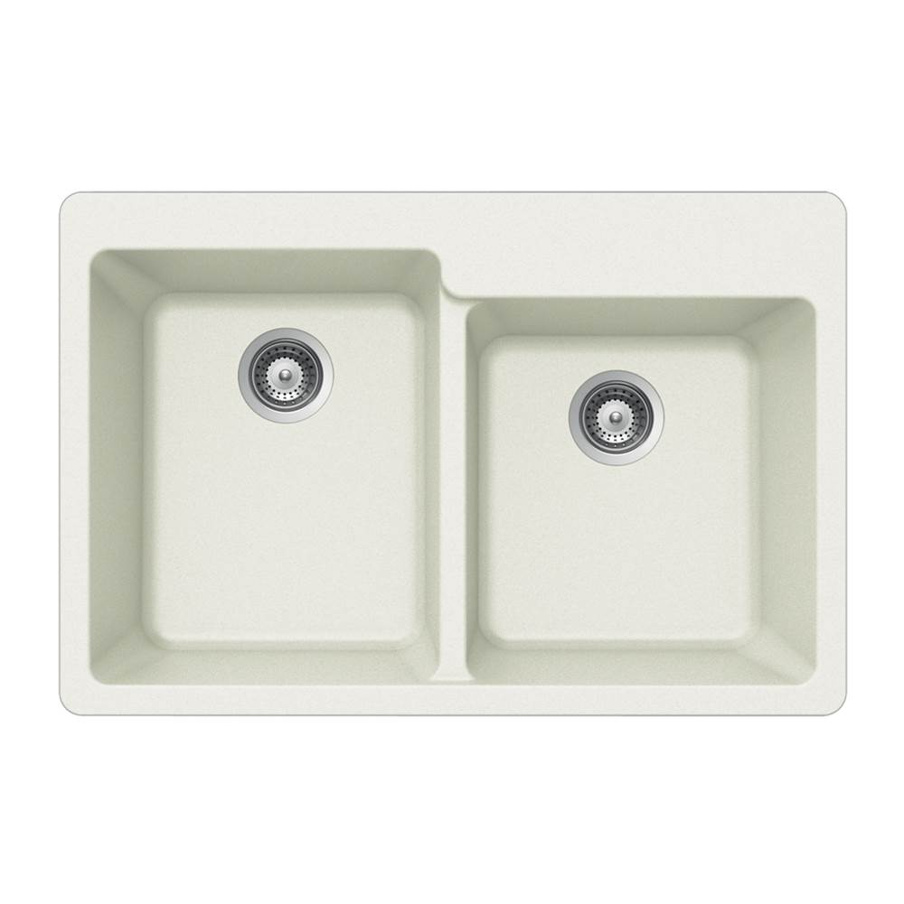 Hamat Drop In Kitchen Sinks item SIO-3322DTR-WH