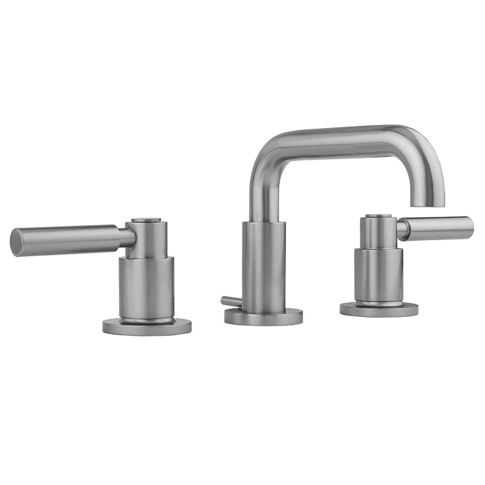 Polished Copper Peg Handles and Angled Handshower Jaclo 9980-T638-A-456-TRIM-PCU Contempo Roman Bathtub Filler with Lever
