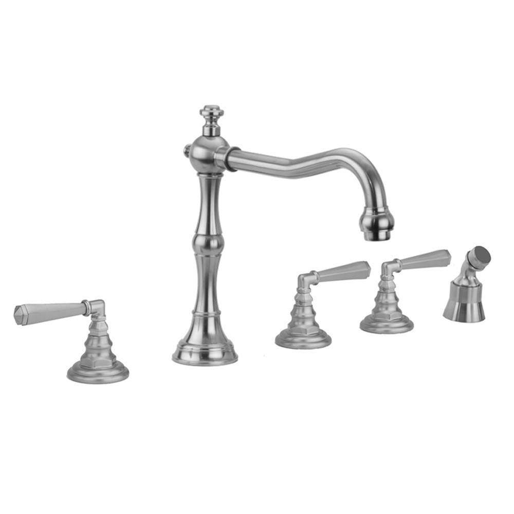 Jaclo  Roman Tub Faucets With Hand Showers item 9930-T675-A-240-TRIM-RG