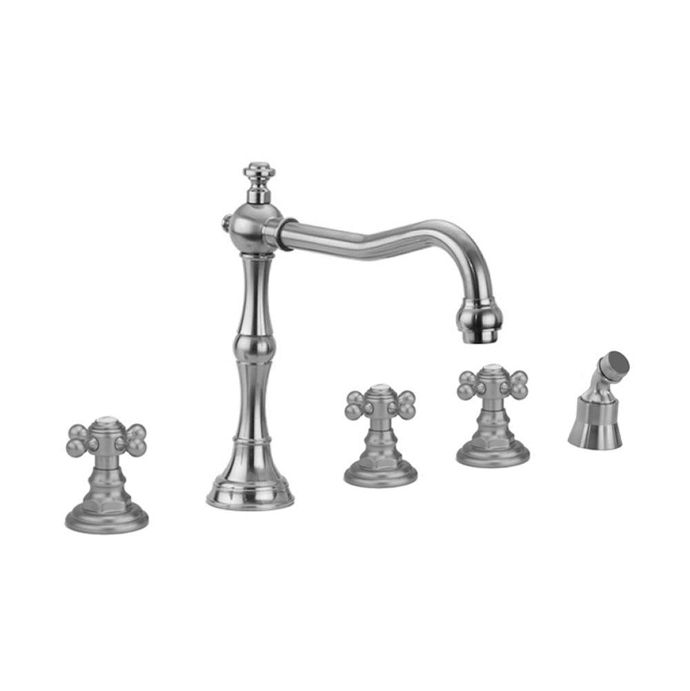 Jaclo  Roman Tub Faucets With Hand Showers item 9930-T678-A-240-TRIM-RG