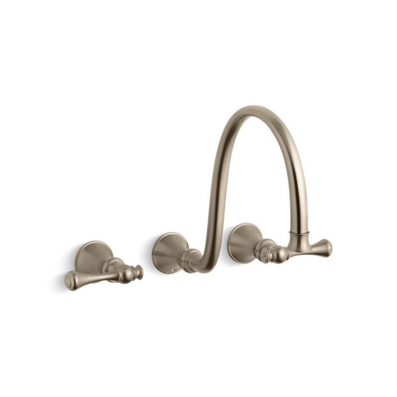 Kohler Wall Mounted Bathroom Sink Faucets item T16107-4A-BV