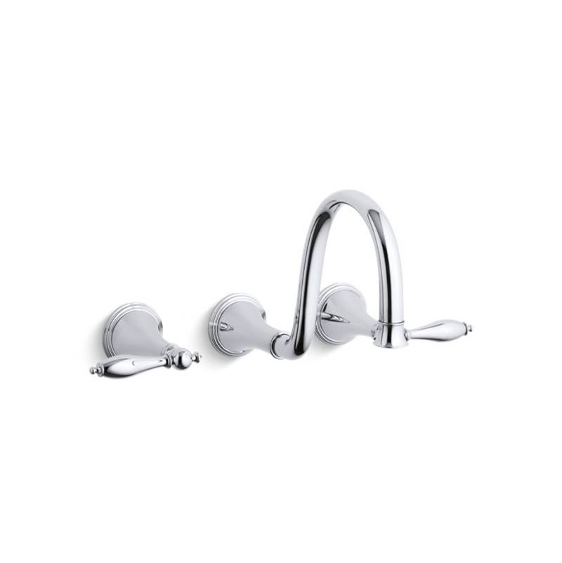 Kohler Wall Mounted Bathroom Sink Faucets item T343-4M-CP