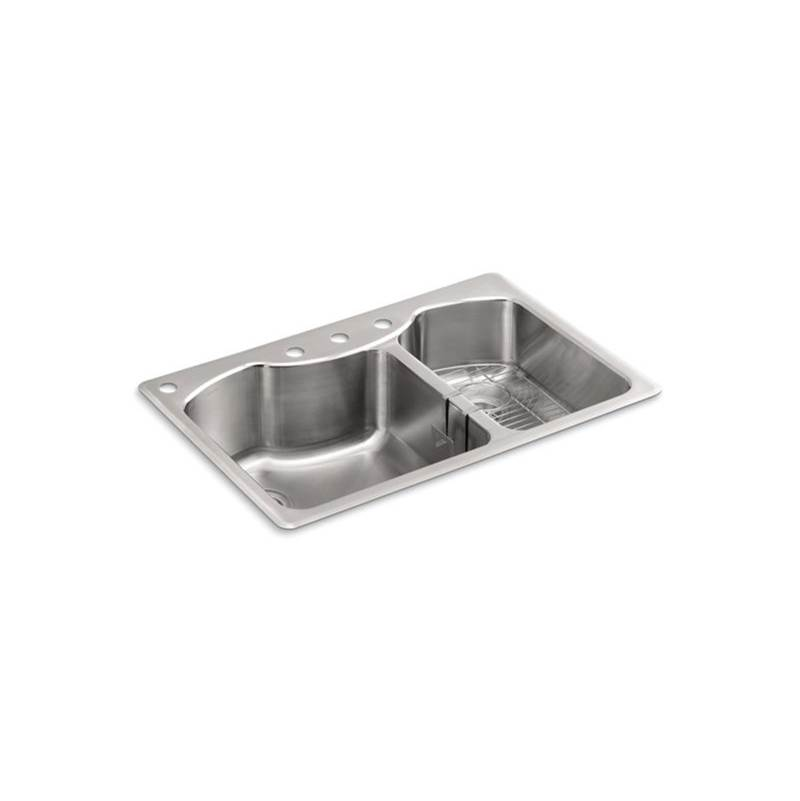 Kohler Drop In Kitchen Sinks item 3844-4-NA
