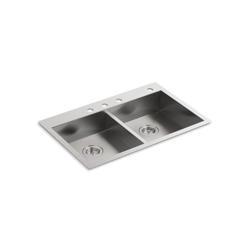 Kohler Drop In Kitchen Sinks item 3996-4-NA
